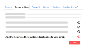 Add legal notice to your emails eEvidence