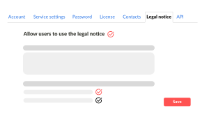 Allow users to use legal notice eEvidence