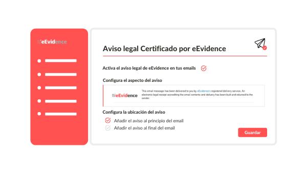 Aviso legal Certificado por eEvidence